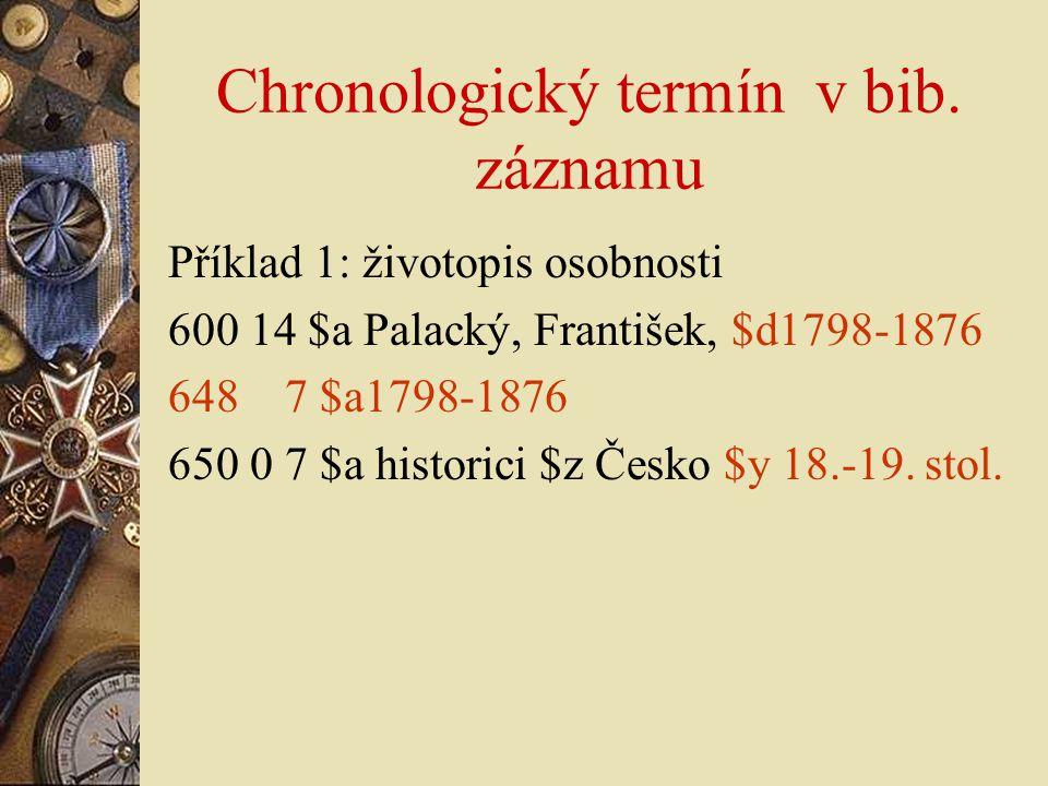 Chronologický termín v bib. záznamu