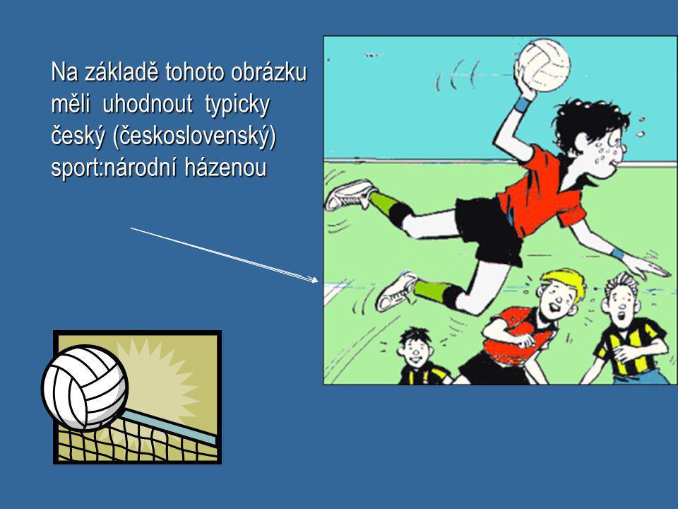 Na základě tohoto obrázku měli uhodnout typicky český (československý) sport:národní házenou