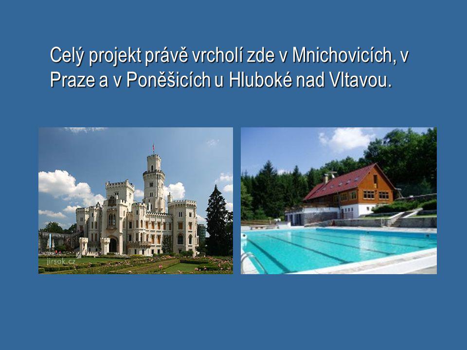 Celý projekt právě vrcholí zde v Mnichovicích, v Praze a v Poněšicích u Hluboké nad Vltavou.