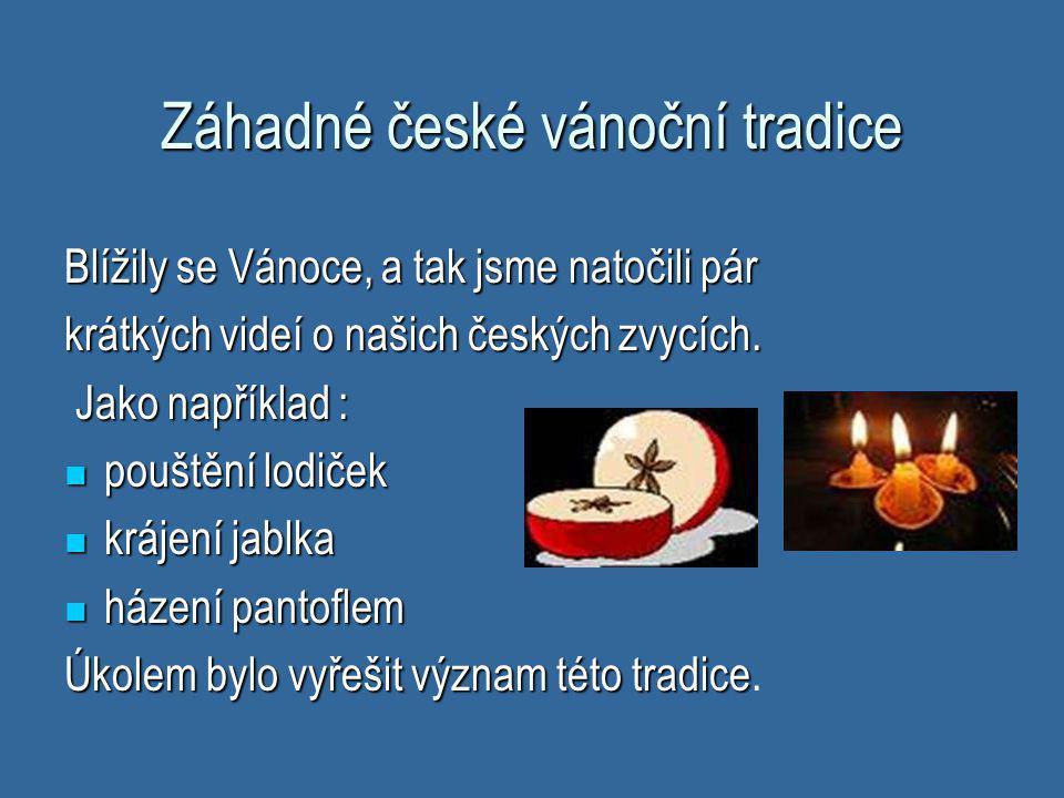 Záhadné české vánoční tradice