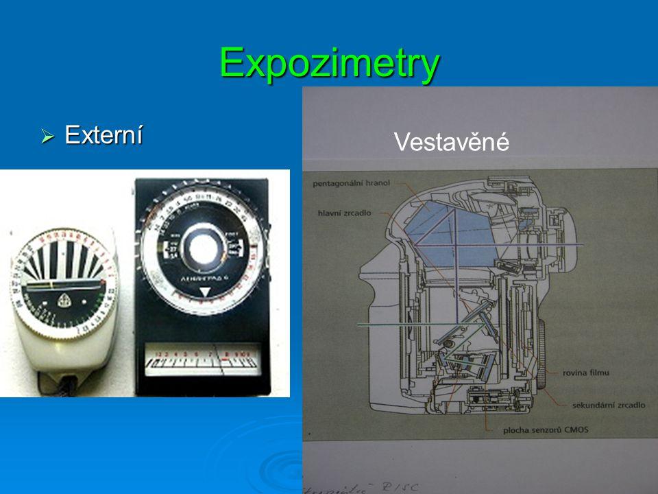 Expozimetry Externí Vestavěné