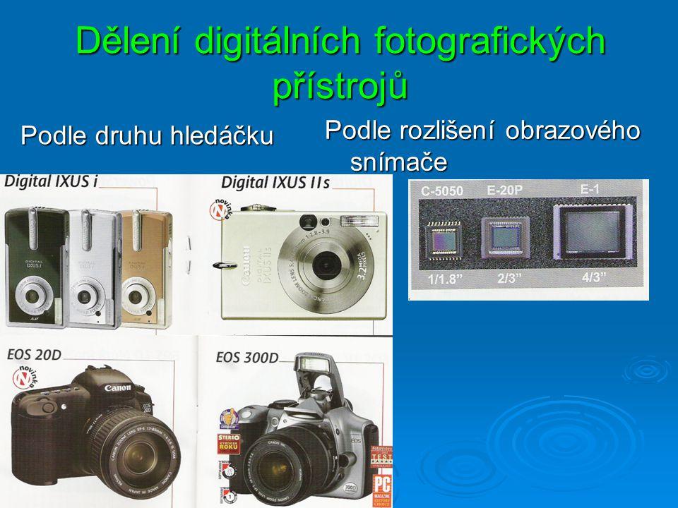 Dělení digitálních fotografických přístrojů