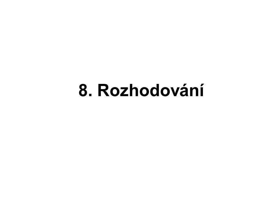 8. Rozhodování