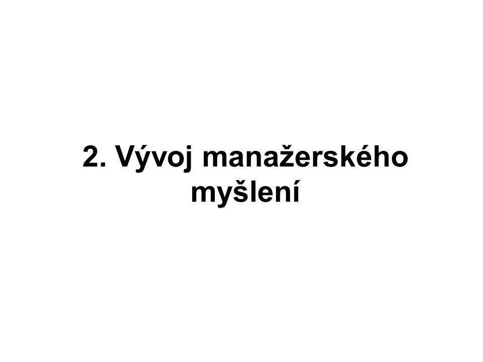 2. Vývoj manažerského myšlení