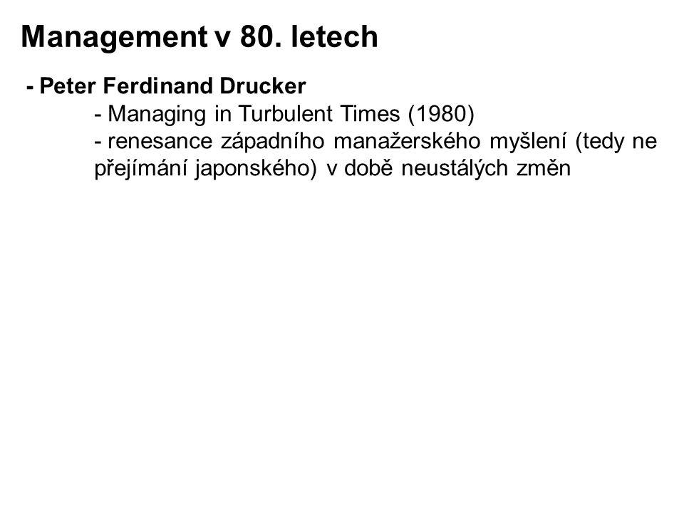 Management v 80. letech - Peter Ferdinand Drucker