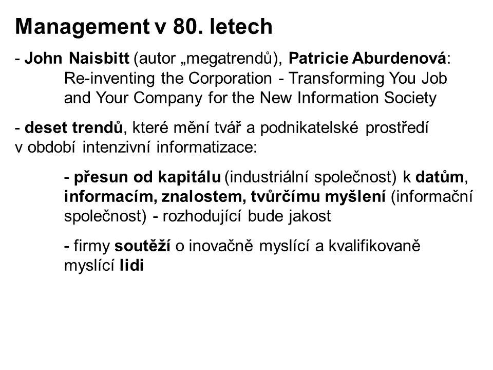 Management v 80. letech