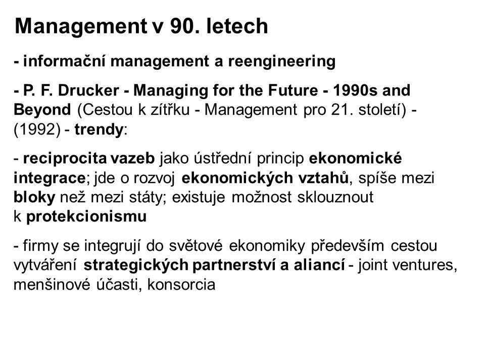 Management v 90. letech - informační management a reengineering