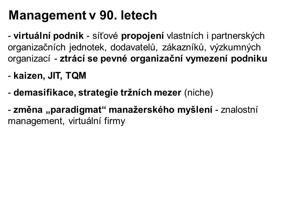 Management v 90. letech