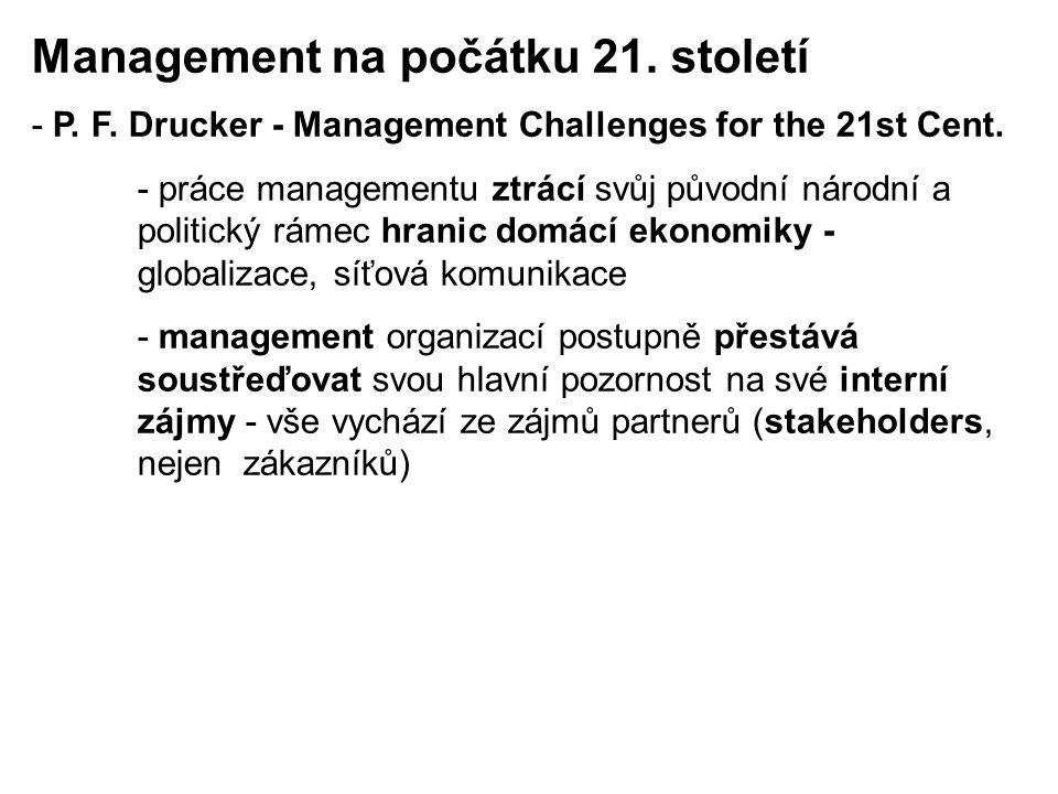 Management na počátku 21. století