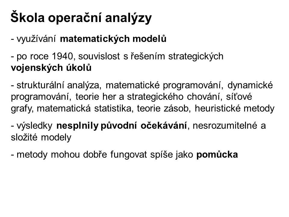 Škola operační analýzy