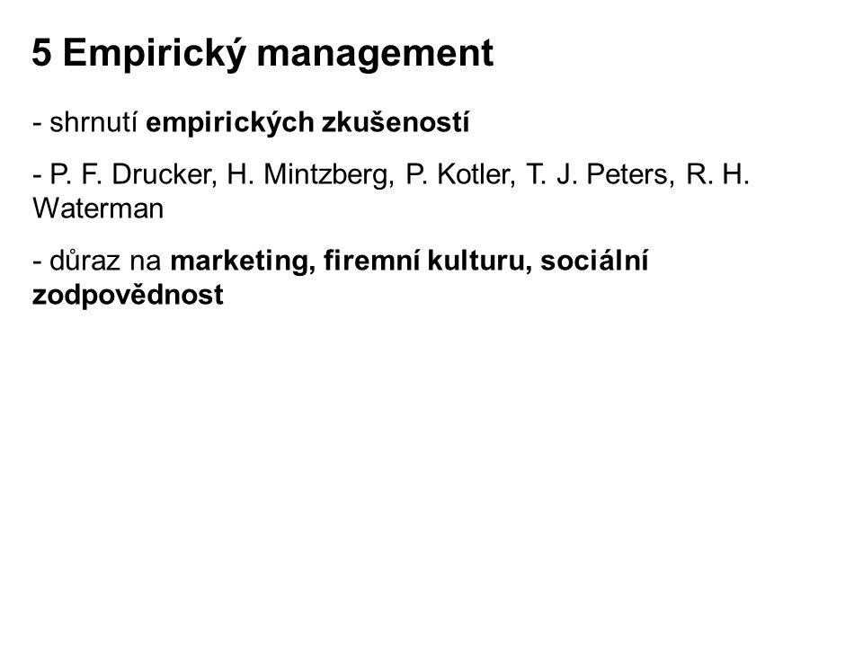 5 Empirický management - shrnutí empirických zkušeností