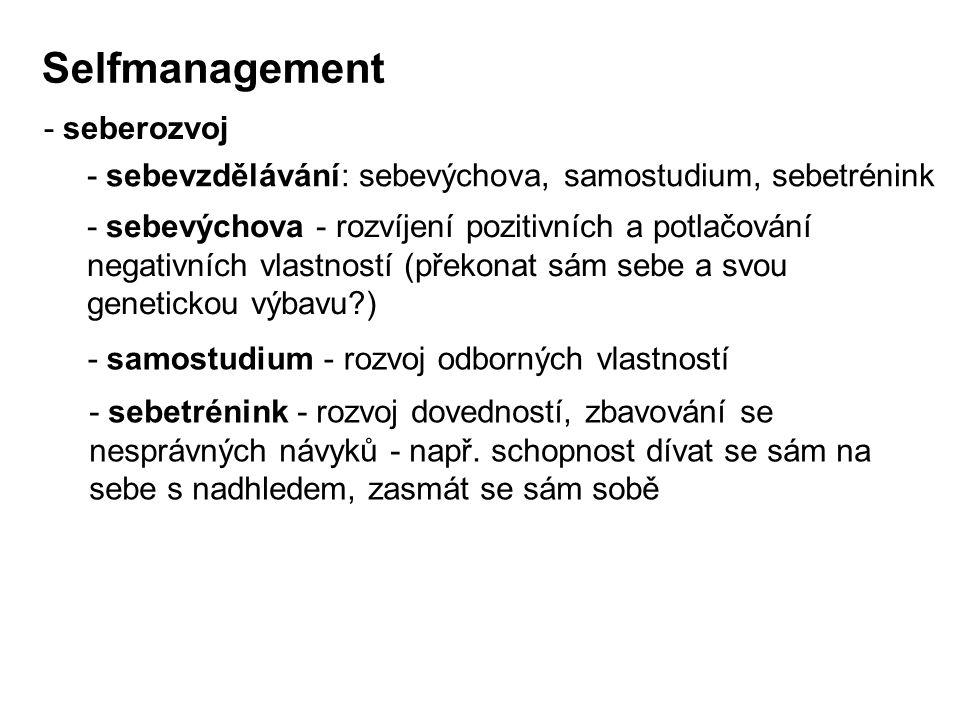 Selfmanagement - seberozvoj