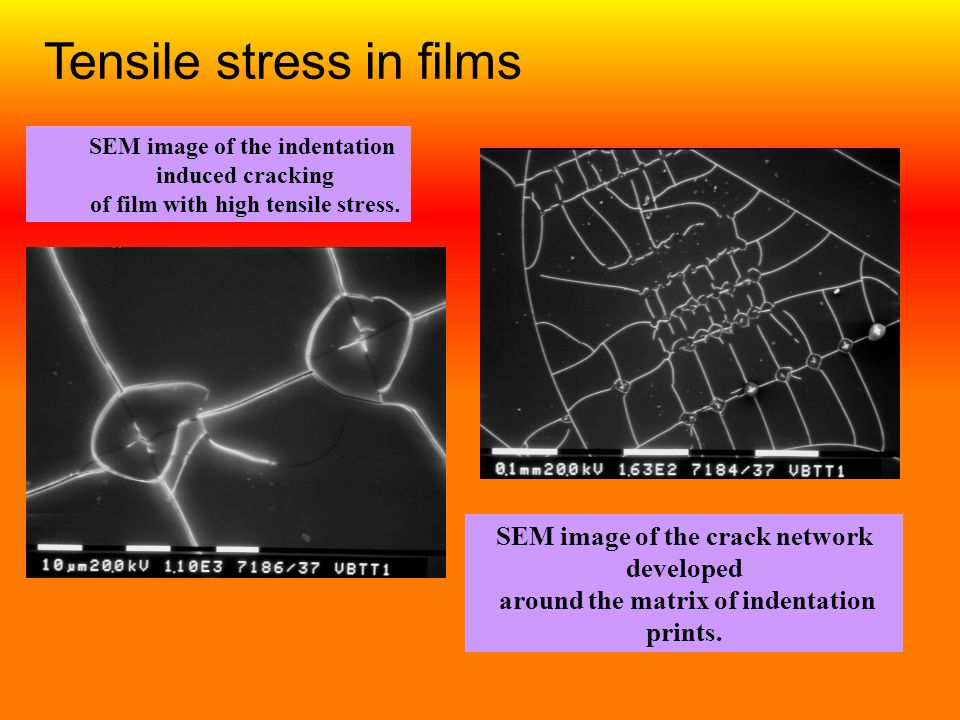Tensile stress in films