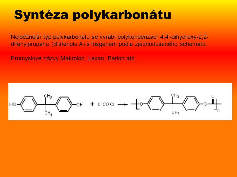 Syntéza polykarbonátu