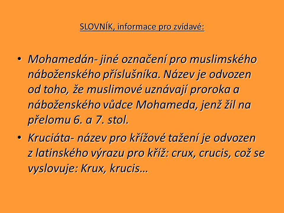 SLOVNÍK, informace pro zvídavé: