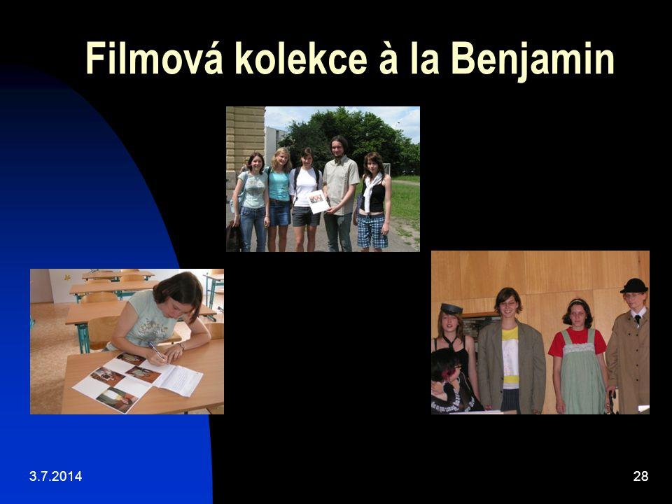 Filmová kolekce à la Benjamin