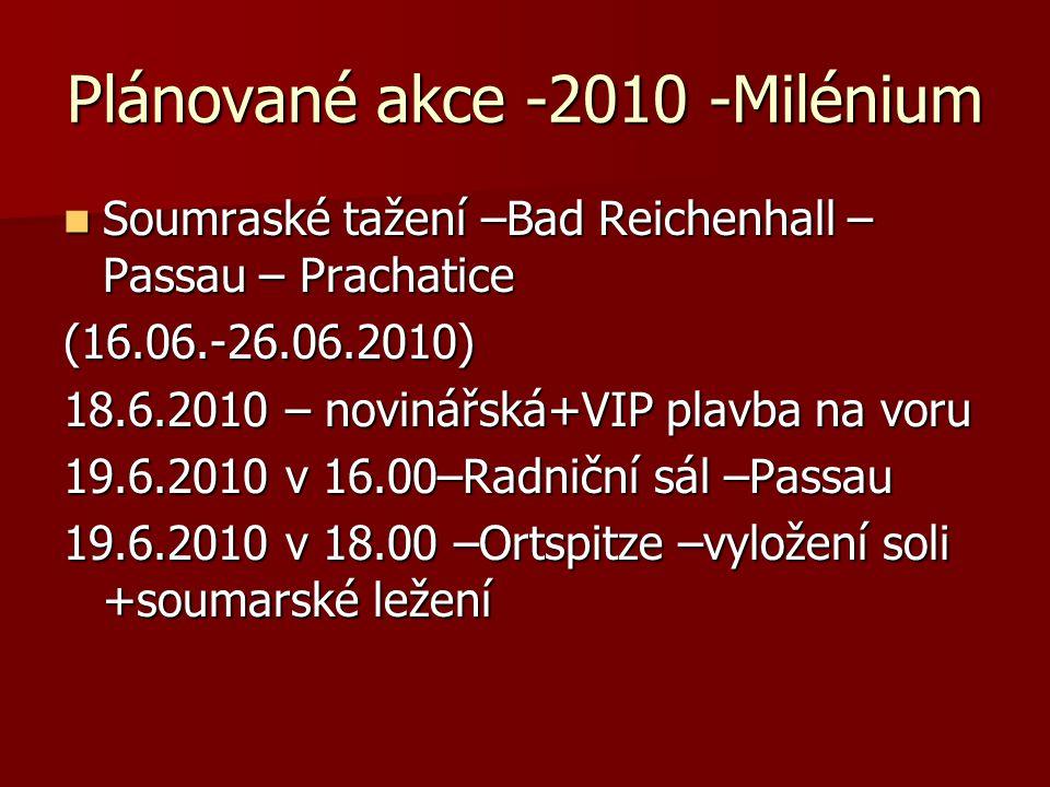Plánované akce -2010 -Milénium