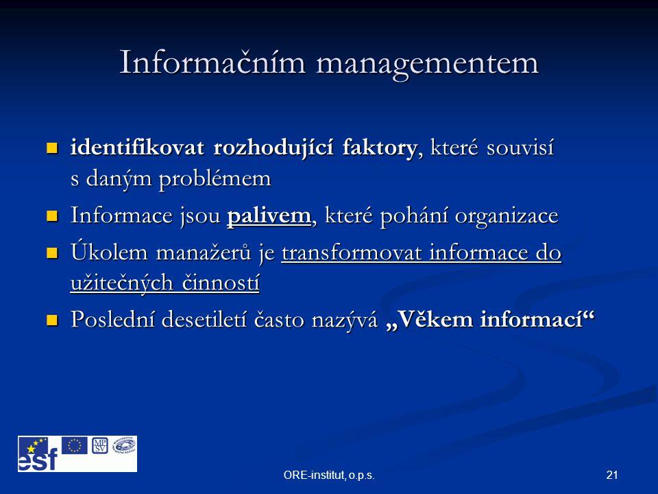 Informačním managementem