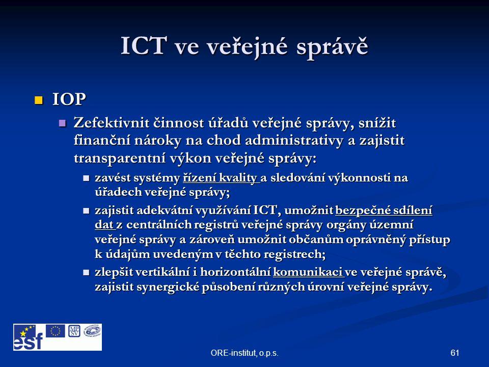 ICT ve veřejné správě IOP