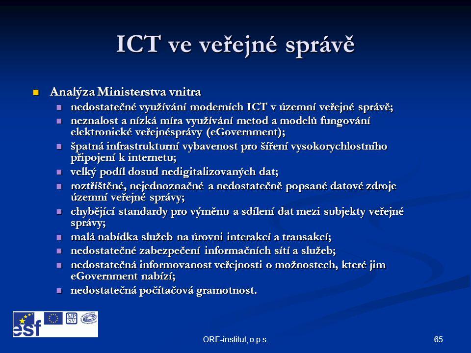 ICT ve veřejné správě Analýza Ministerstva vnitra