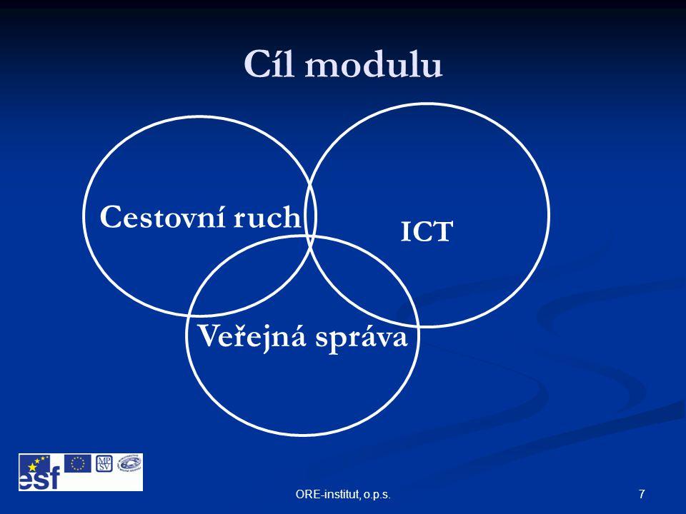 Cíl modulu ICT Cestovní ruch Veřejná správa ORE-institut, o.p.s.