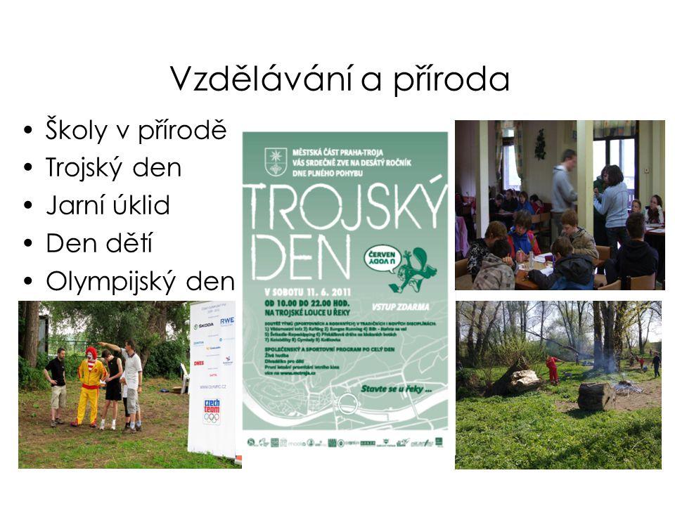Vzdělávání a příroda Školy v přírodě Trojský den Jarní úklid Den dětí