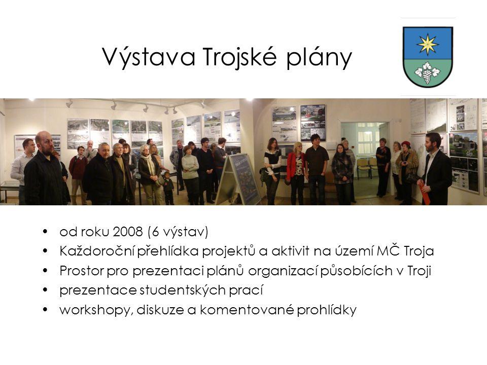Výstava Trojské plány od roku 2008 (6 výstav)