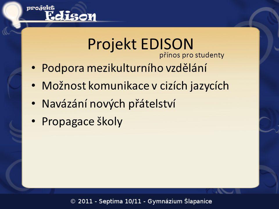 Projekt EDISON Podpora mezikulturního vzdělání