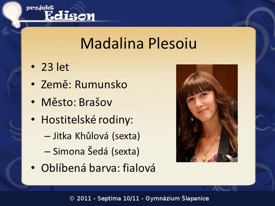 Madalina Plesoiu 23 let Země: Rumunsko Město: Brašov