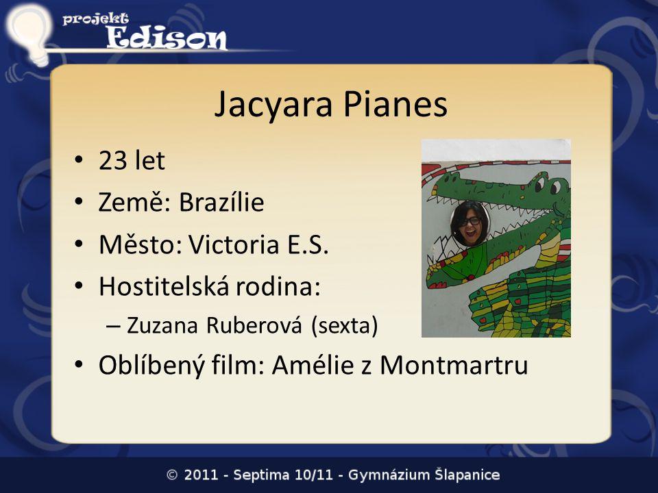 Jacyara Pianes 23 let Země: Brazílie Město: Victoria E.S.