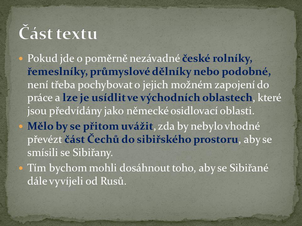 Část textu