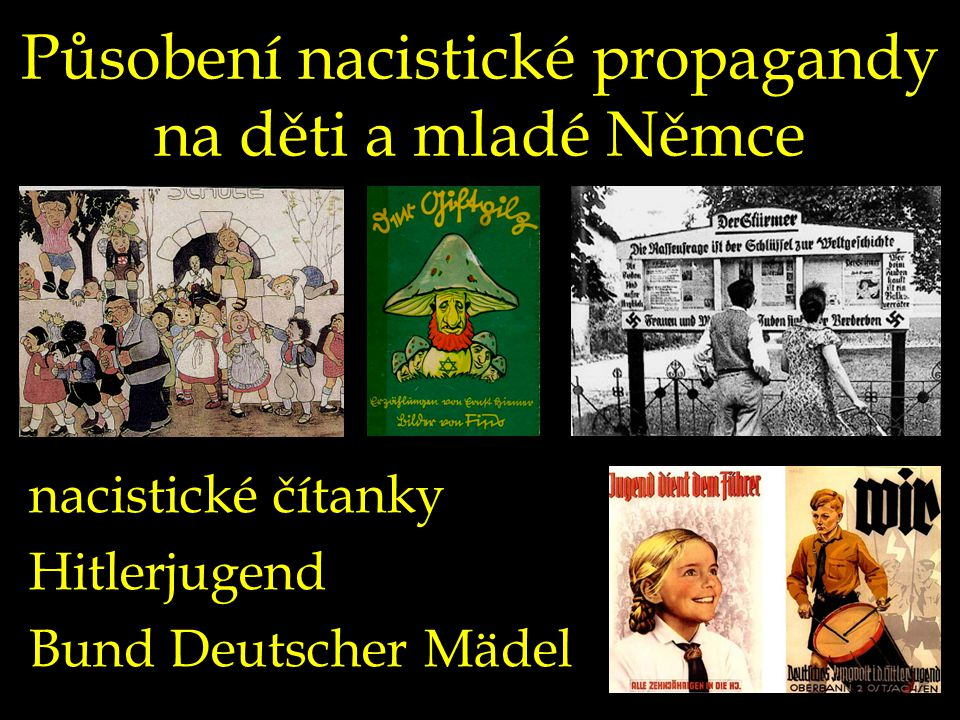 Působení nacistické propagandy na děti a mladé Němce