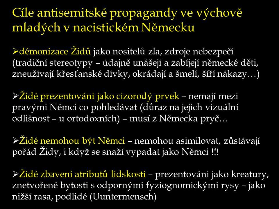 Cíle antisemitské propagandy ve výchově mladých v nacistickém Německu