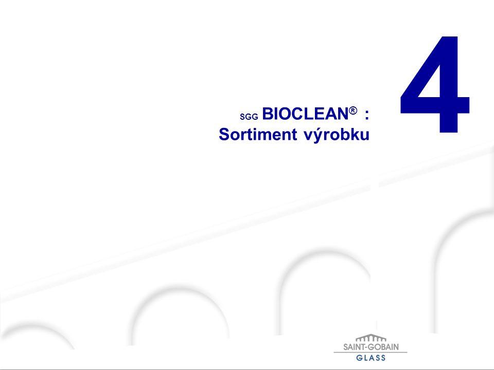 SGG BIOCLEAN® : Sortiment výrobku