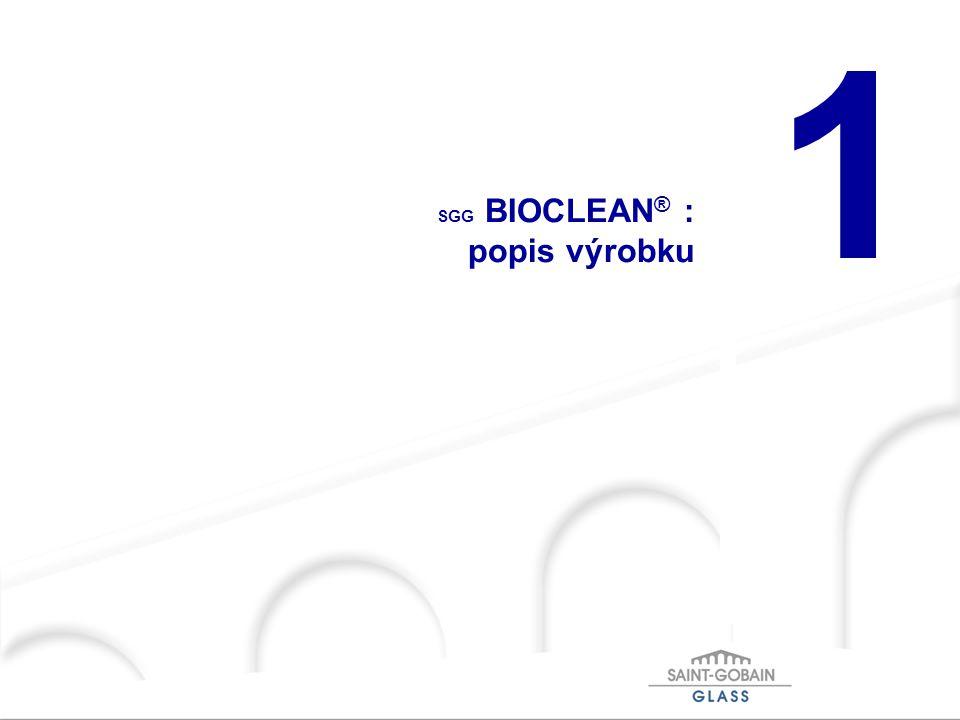 SGG BIOCLEAN® : popis výrobku