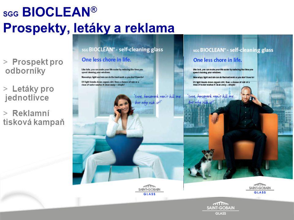 SGG BIOCLEAN® Prospekty, letáky a reklama
