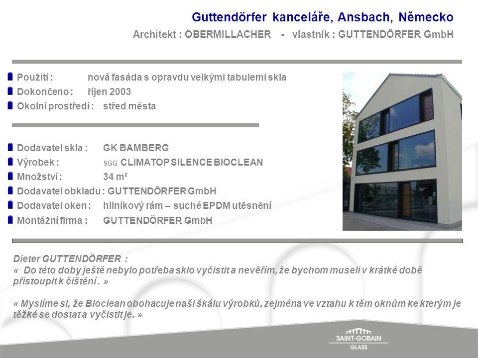 Guttendörfer kanceláře, Ansbach, Německo Architekt : OBERMILLACHER - vlastník : GUTTENDÖRFER GmbH
