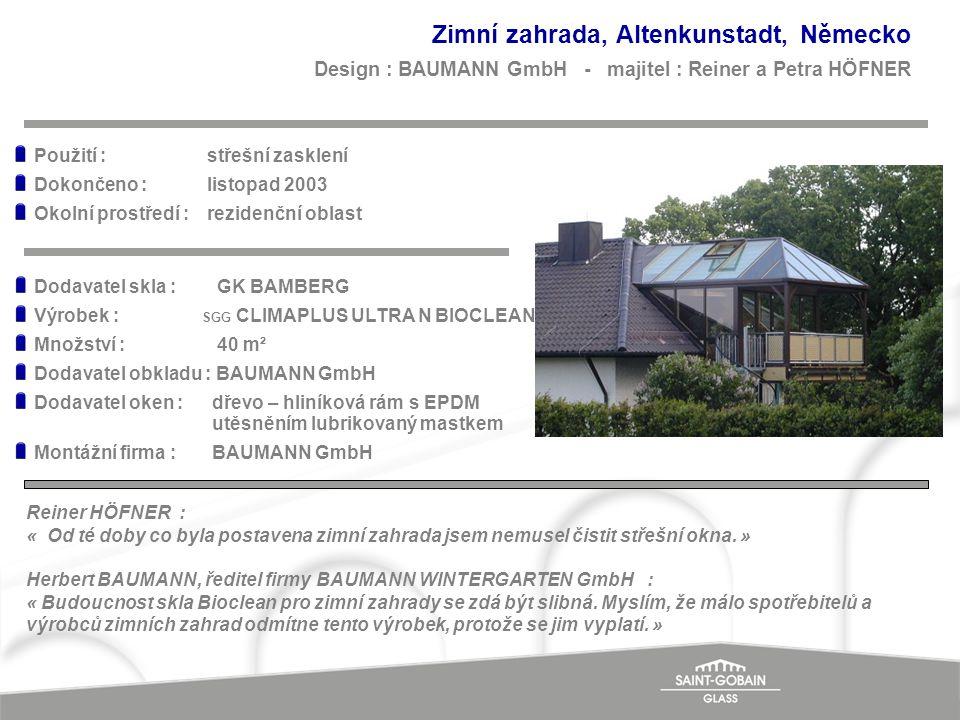 Zimní zahrada, Altenkunstadt, Německo Design : BAUMANN GmbH - majitel : Reiner a Petra HÖFNER