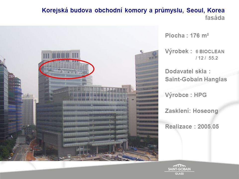 Korejská budova obchodní komory a průmyslu, Seoul, Korea fasáda