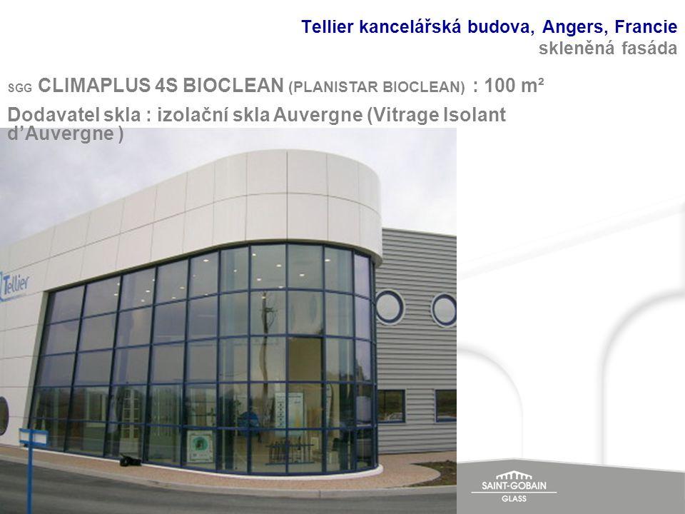 Tellier kancelářská budova, Angers, Francie skleněná fasáda