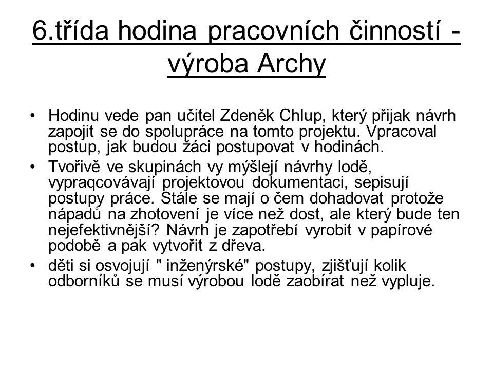 6.třída hodina pracovních činností - výroba Archy
