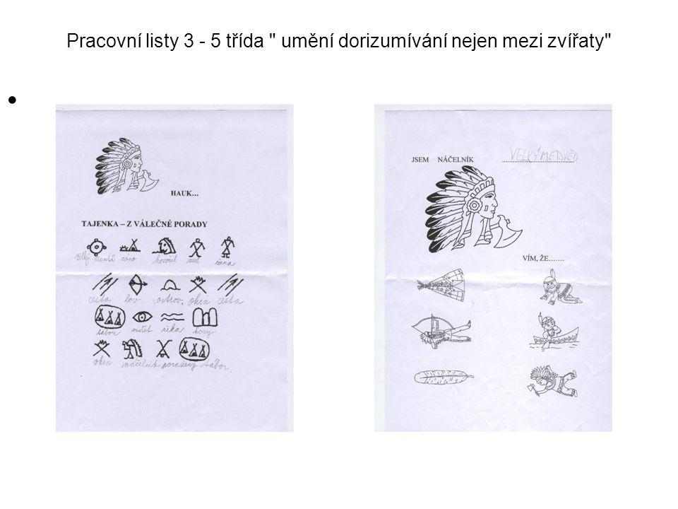 Pracovní listy 3 - 5 třída umění dorizumívání nejen mezi zvířaty