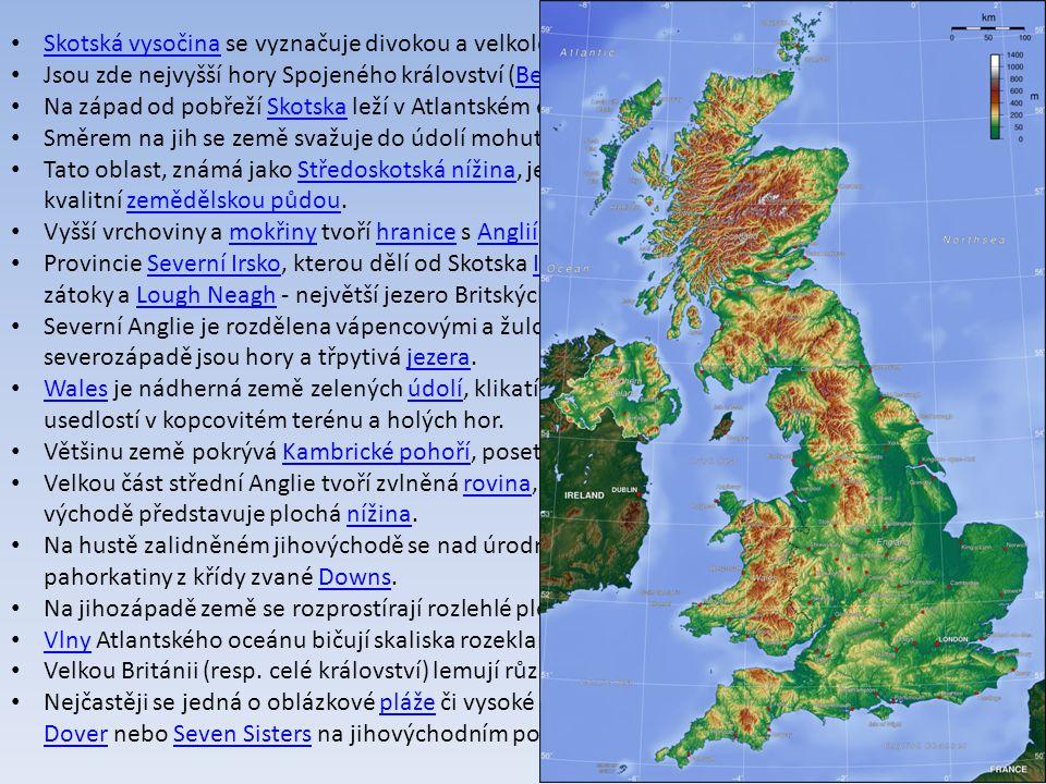 Skotská vysočina se vyznačuje divokou a velkolepou přírodou.