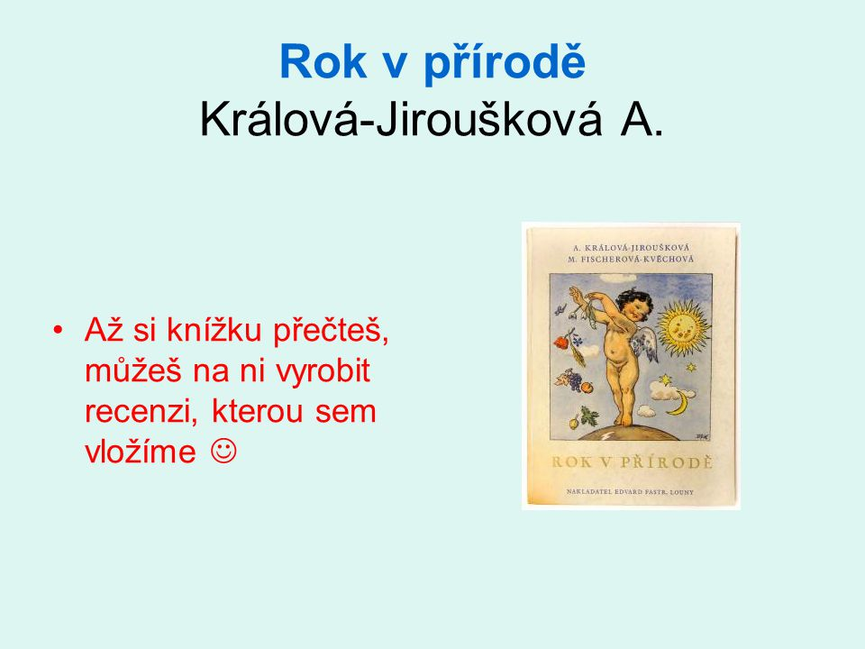 Rok v přírodě Králová-Jiroušková A.