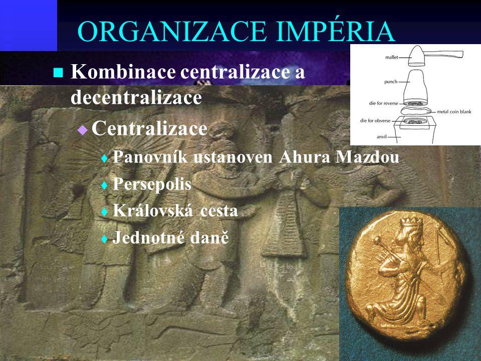 ORGANIZACE IMPÉRIA Kombinace centralizace a decentralizace