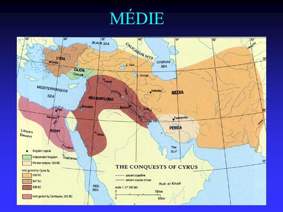 MÉDIE Na jihu však již vidíme počátky nové říše – Persie, která si podmanila všechny zobrazené říše