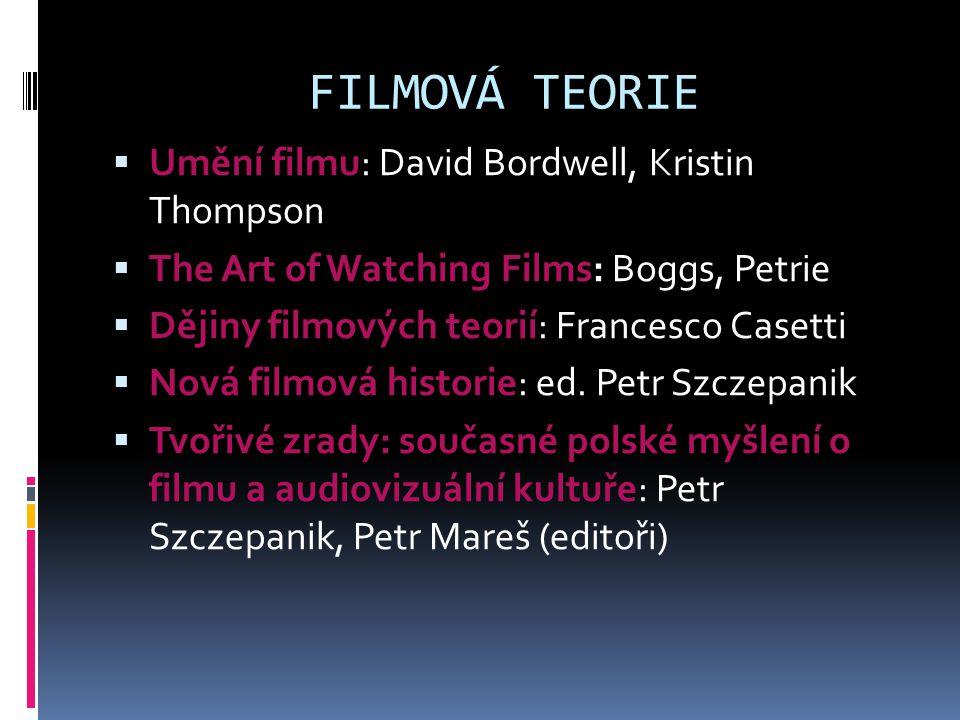 FILMOVÁ TEORIE Umění filmu: David Bordwell, Kristin Thompson