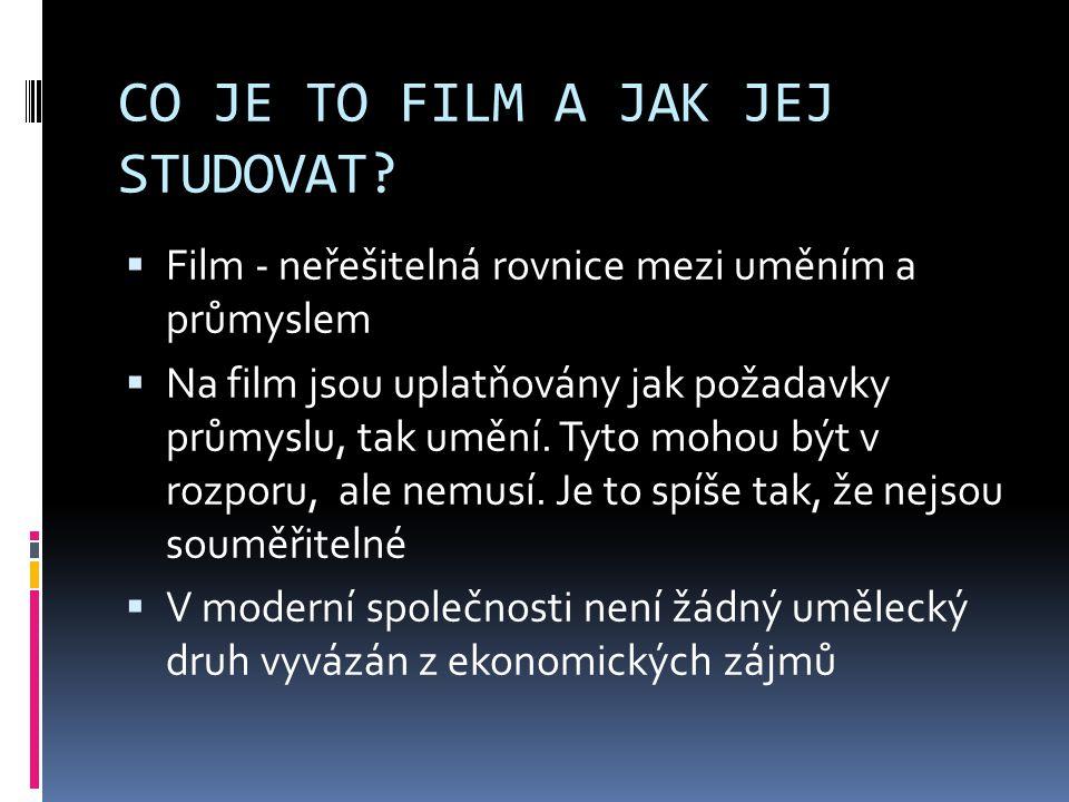 CO JE TO FILM A JAK JEJ STUDOVAT