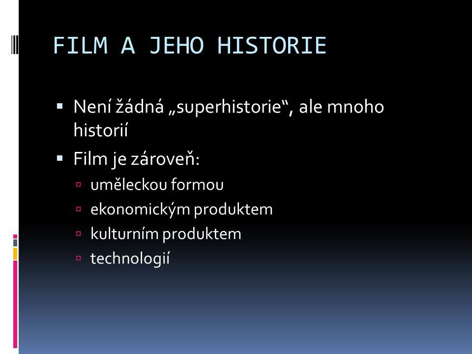 """FILM A JEHO HISTORIE Není žádná """"superhistorie , ale mnoho historií"""