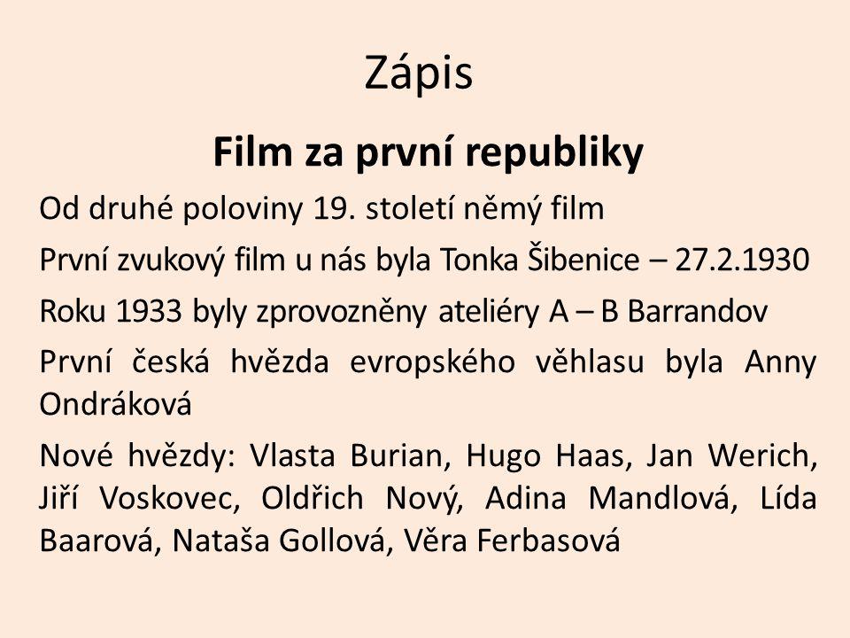 Film za první republiky
